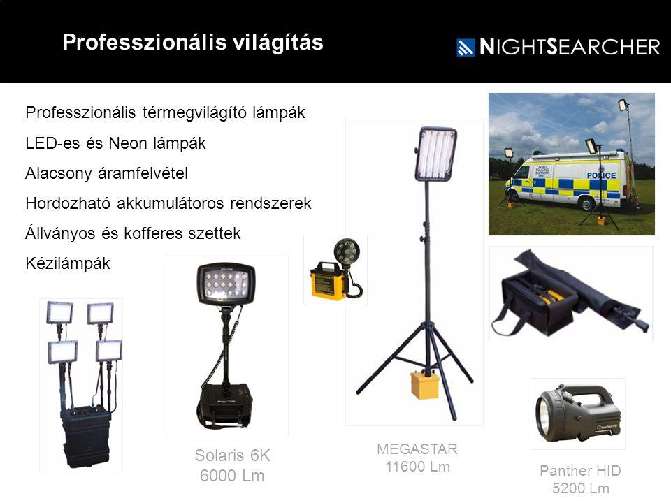 Professzionális térmegvilágító lámpák LED-es és Neon lámpák Alacsony áramfelvétel Hordozható akkumulátoros rendszerek Állványos és kofferes szettek Ké
