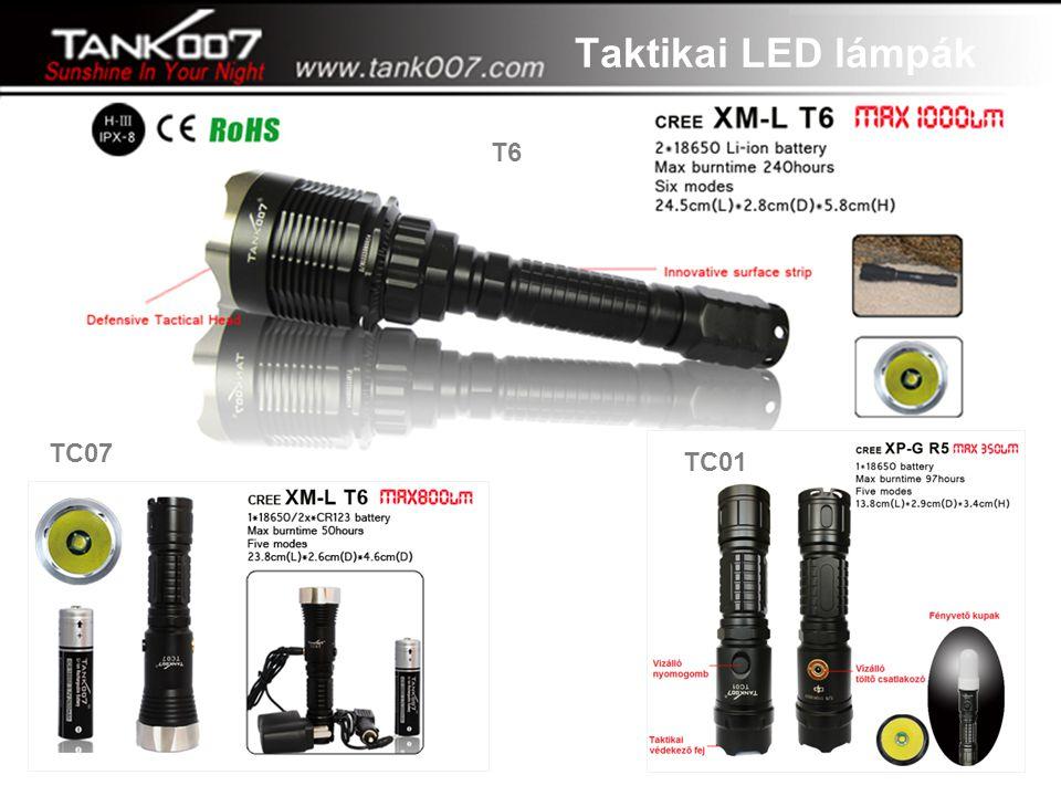 """""""A tegnap álma, a ma valósága"""" TC01 TC07 T6 Taktikai LED lámpák"""