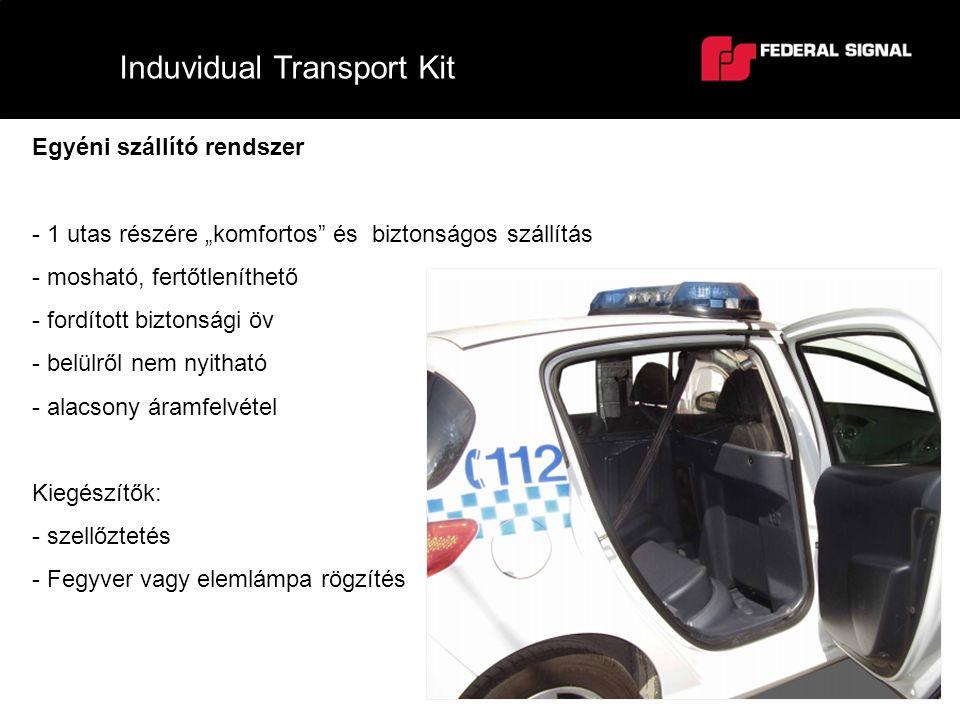"""Induvidual Transport Kit Egyéni szállító rendszer - 1 utas részére """"komfortos"""" és biztonságos szállítás - mosható, fertőtleníthető - fordított biztons"""