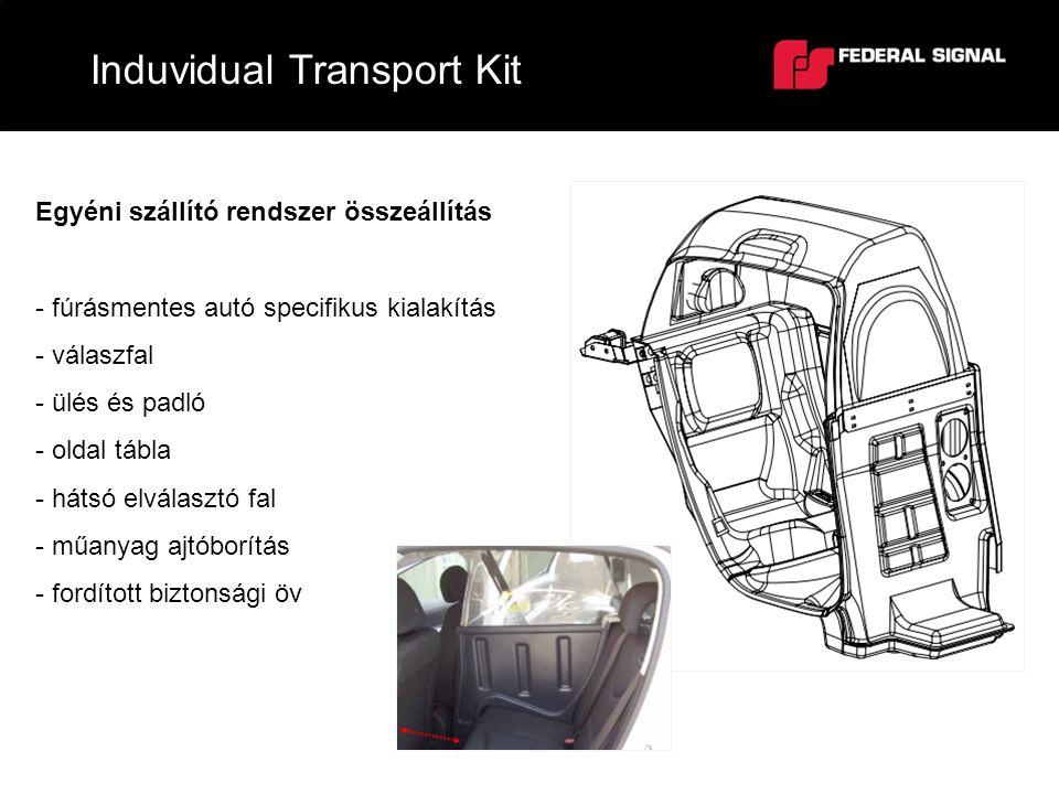 Induvidual Transport Kit Egyéni szállító rendszer összeállítás - fúrásmentes autó specifikus kialakítás - válaszfal - ülés és padló - oldal tábla - há