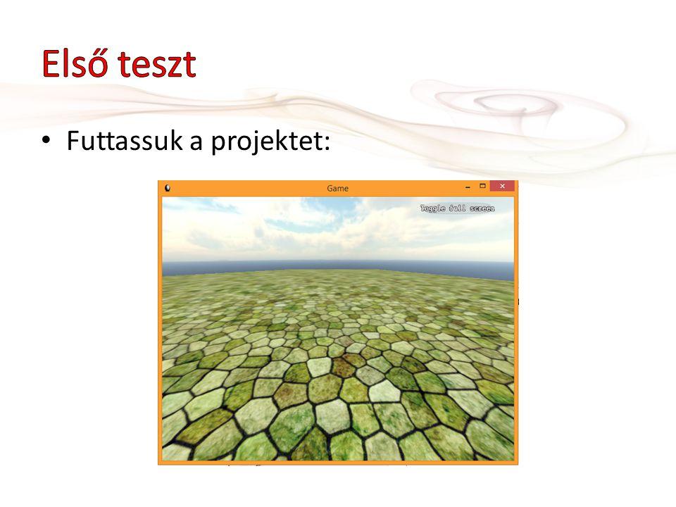 • Futtassuk a projektet: