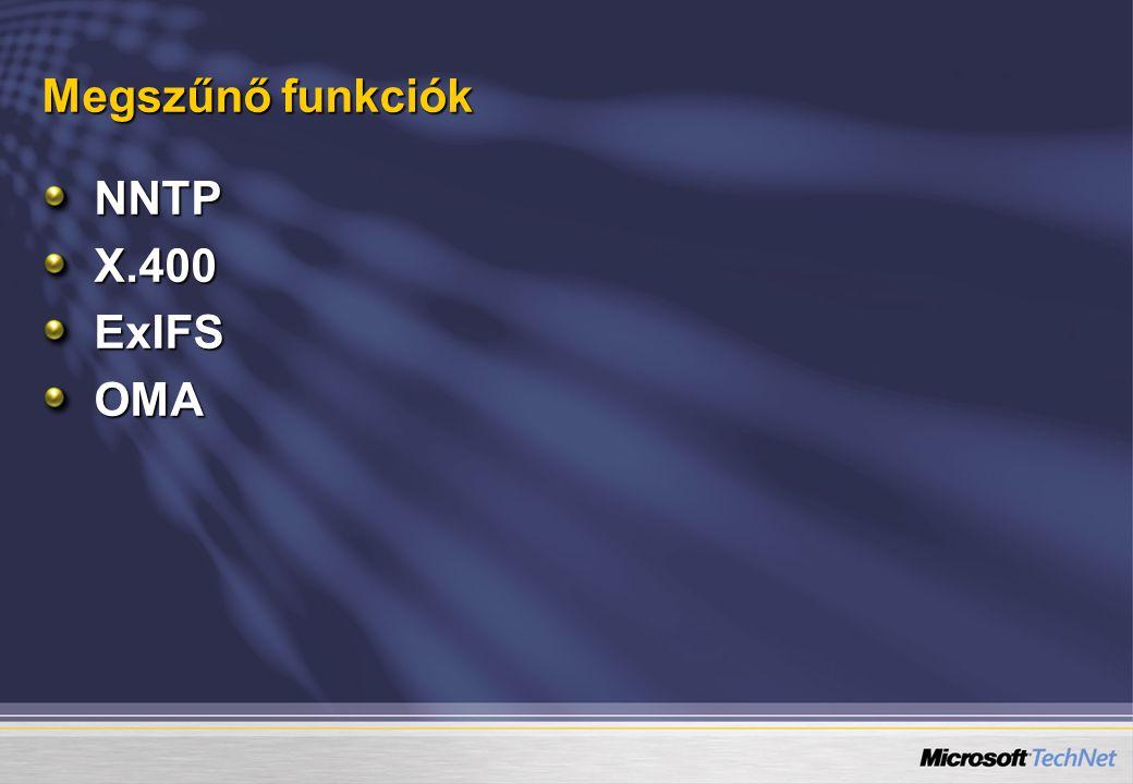 Megszűnő funkciók NNTPX.400ExIFSOMA
