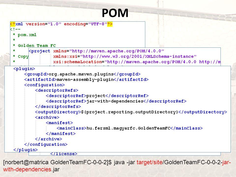 POM [norbert@matrica GoldenTeamFC-0-0-2]$ java -jar target/site/GoldenTeamFC-0-0-2-jar- with-dependencies.jar