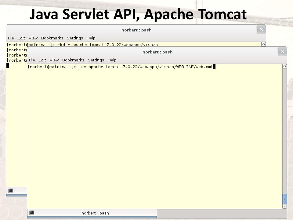 Java Servlet API, Apache Tomcat