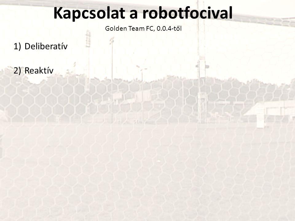 Kapcsolat a robotfocival Golden Team FC, 0.0.4-től 1)Deliberatív 2)Reaktív