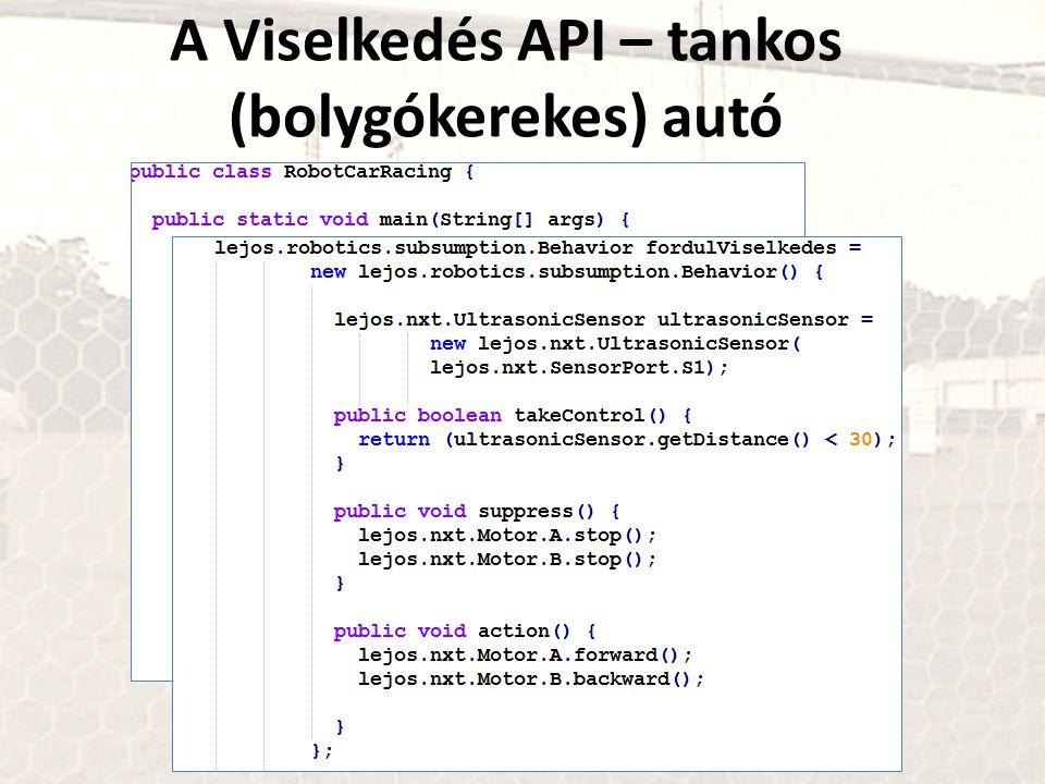 A Viselkedés API – tankos (bolygókerekes) autó