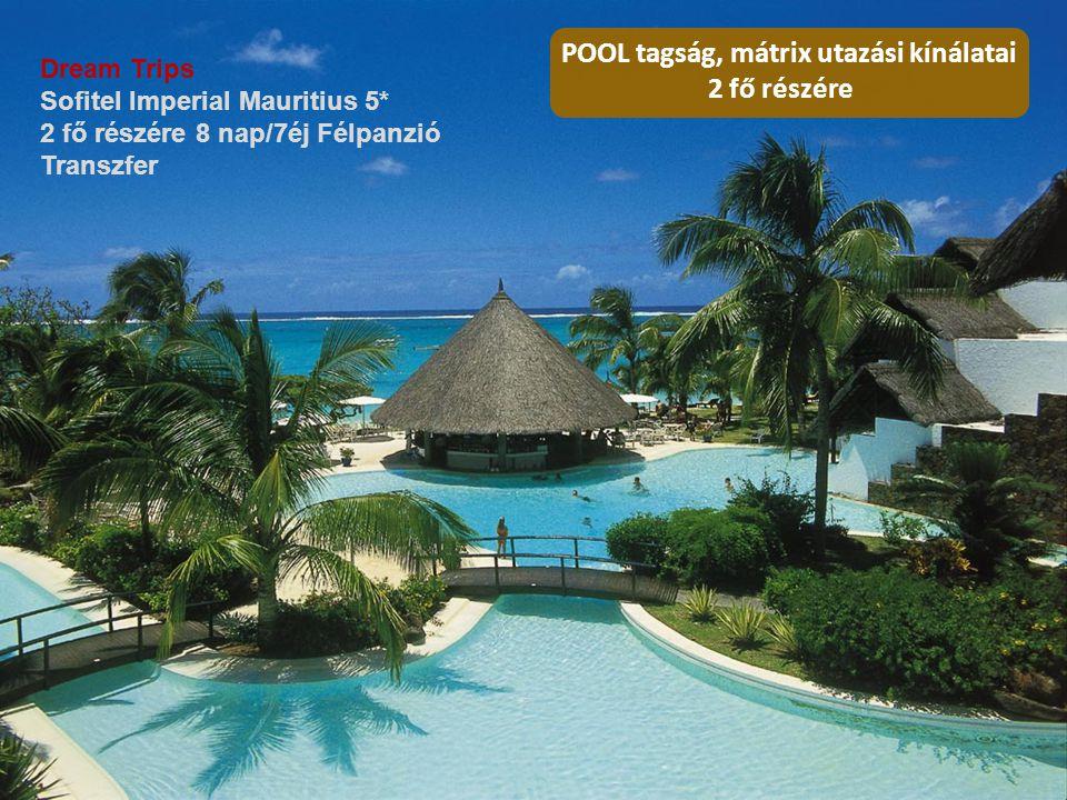 Dream Trips Sofitel Imperial Mauritius 5* 2 fő részére 8 nap/7éj Félpanzió Transzfer POOL tagság, mátrix utazási kínálatai 2 fő részére