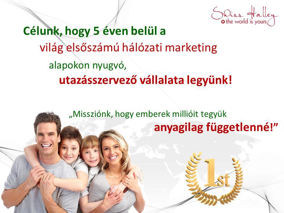 """""""Missziónk, hogy emberek millióit tegyük anyagilag függetlenné !"""" Célunk, hogy 5 éven belül a világ elsőszámú hálózati marketing alapokon nyugvó, utaz"""