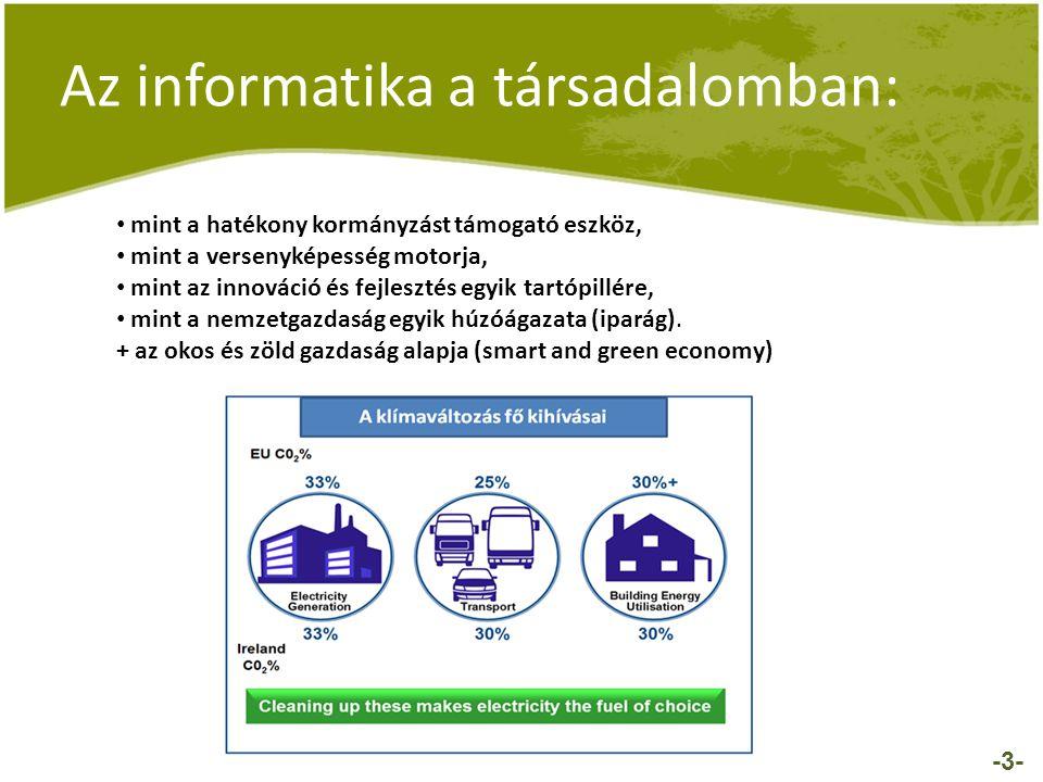 -3- • mint a hatékony kormányzást támogató eszköz, • mint a versenyképesség motorja, • mint az innováció és fejlesztés egyik tartópillére, • mint a ne