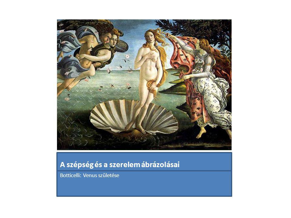 A szépség és a szerelem ábrázolásai Botticelli: Venus születése