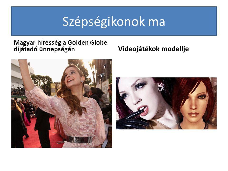 Szépségikonok ma Magyar híresség a Golden Globe díjátadó ünnepségén Videojátékok modellje