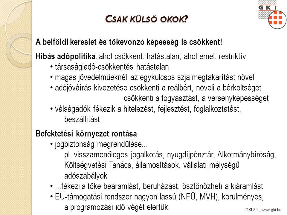 GKI Zrt., www.gki.hu C SAK KÜLSŐ OKOK . C SAK KÜLSŐ OKOK .