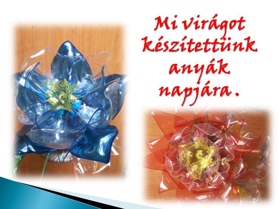 Mi virágot készítettünk anyák napjára.