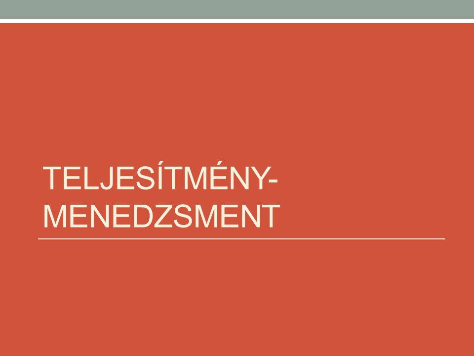 TELJESÍTMÉNY- MENEDZSMENT
