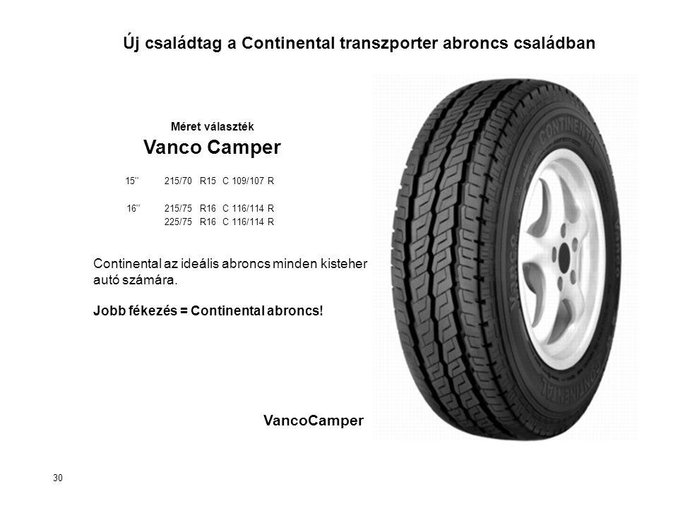 Continental az ideális abroncs minden kisteher autó számára.