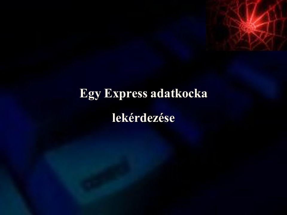 Egy Express adatkocka lekérdezése