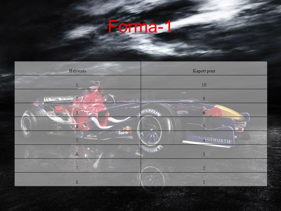 Készítette: Tóth Richárd Forma-1 Költségek •A Formula–1 a világ egyik legdrágább sportága.