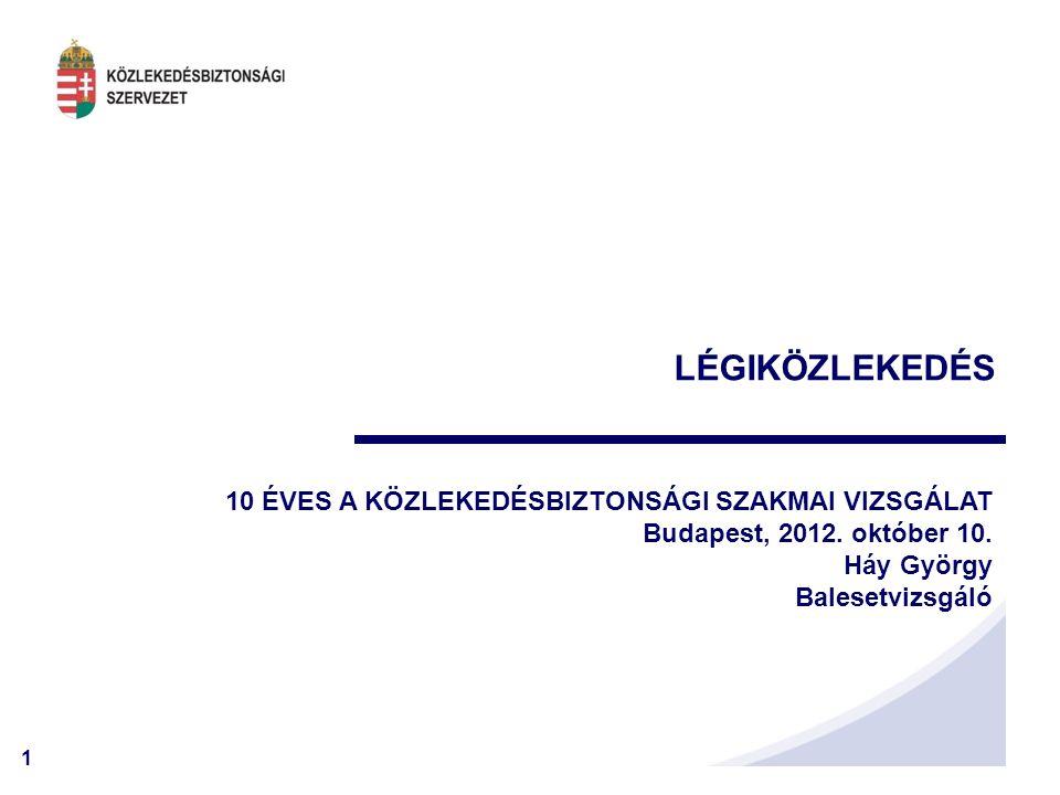 2 REPÜLÉS – Bejelentések 2002 - 2011