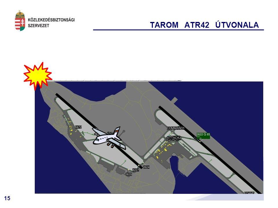 15 TAROM ATR42 ÚTVONALA