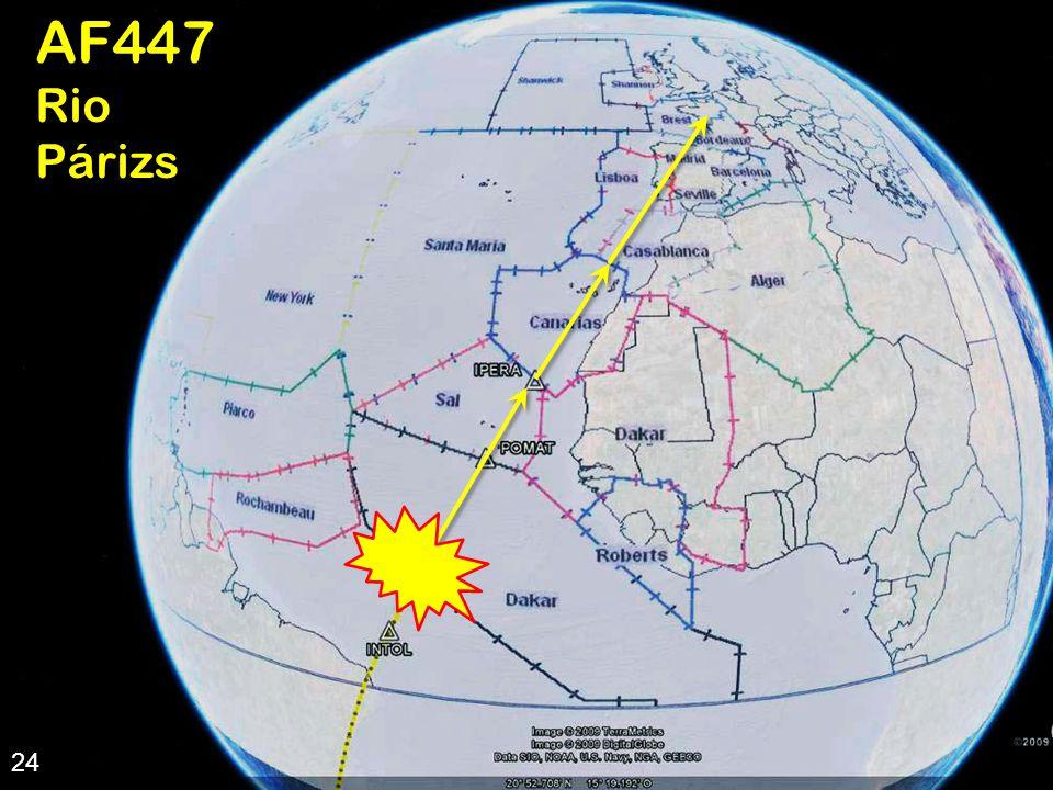 24 AF447 útvonala 24AF447RioPárizs  