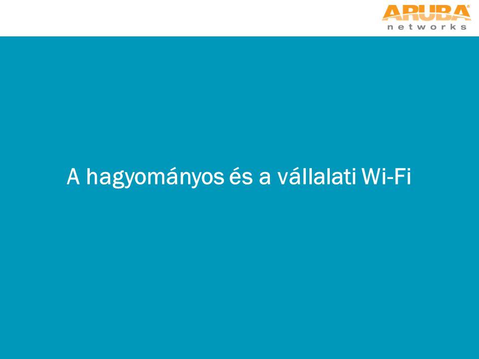 A hagyományos és a vállalati Wi-Fi
