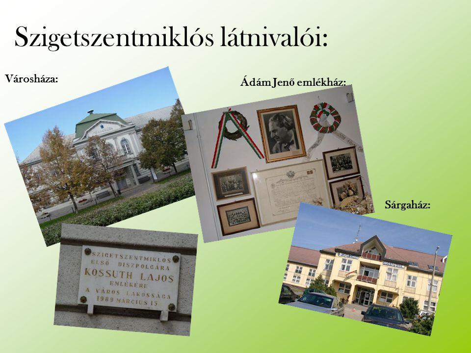 Szigetszentmiklós látnivalói: Városháza: Ádám Jen ő emlékház: Sárgaház: