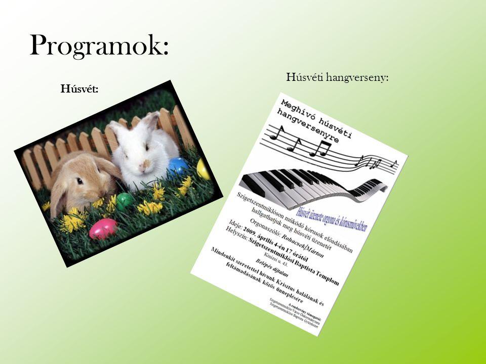 Programok: Húsvét: Húsvéti hangverseny: