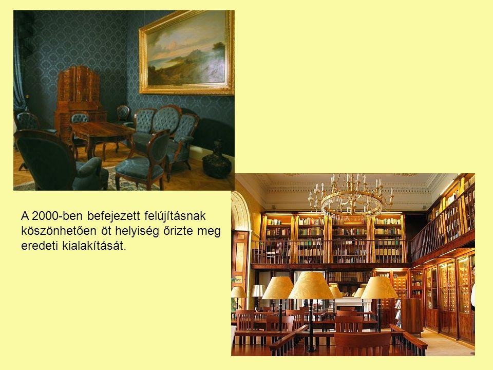 A 2000-ben befejezett felújításnak köszönhetően öt helyiség őrizte meg eredeti kialakítását.