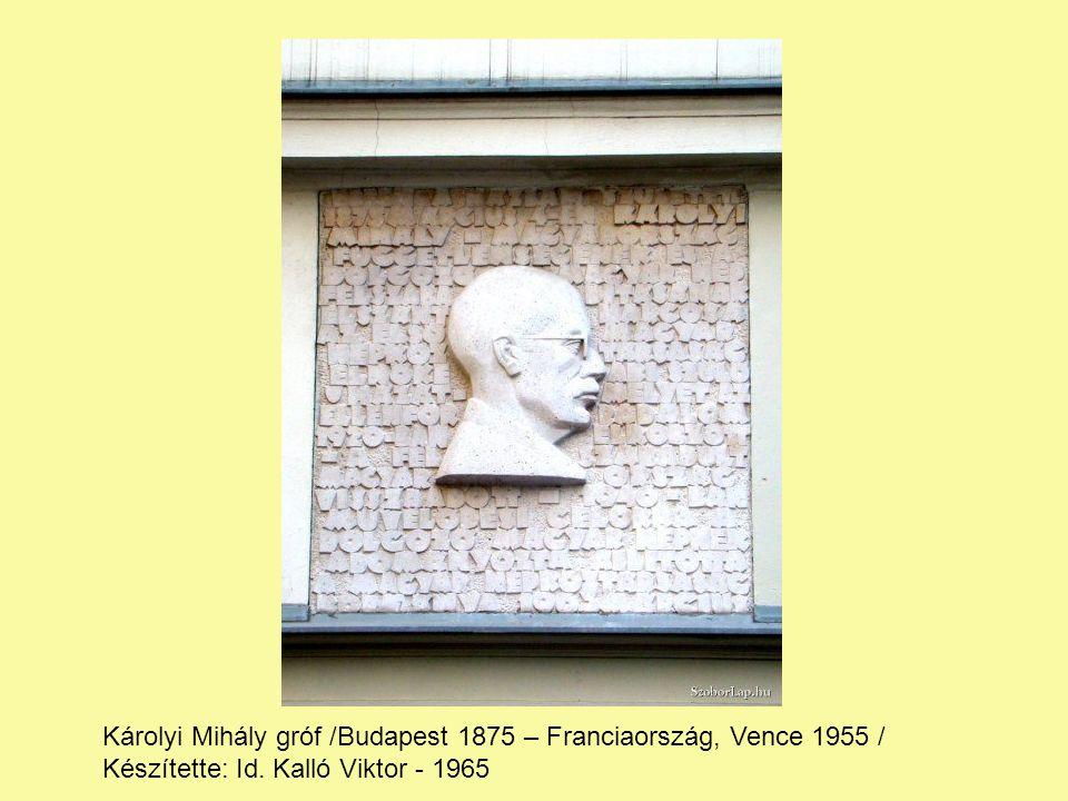 Károlyi Mihály gróf /Budapest 1875 – Franciaország, Vence 1955 / Készítette: Id.