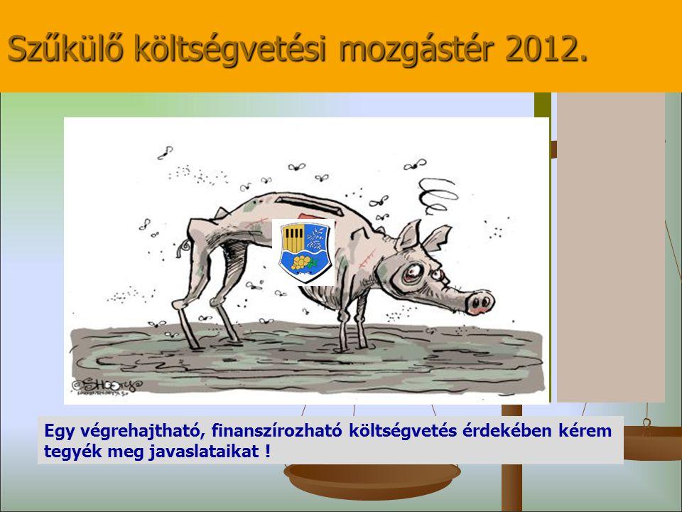 Szűkülő költségvetési mozgástér 2012.