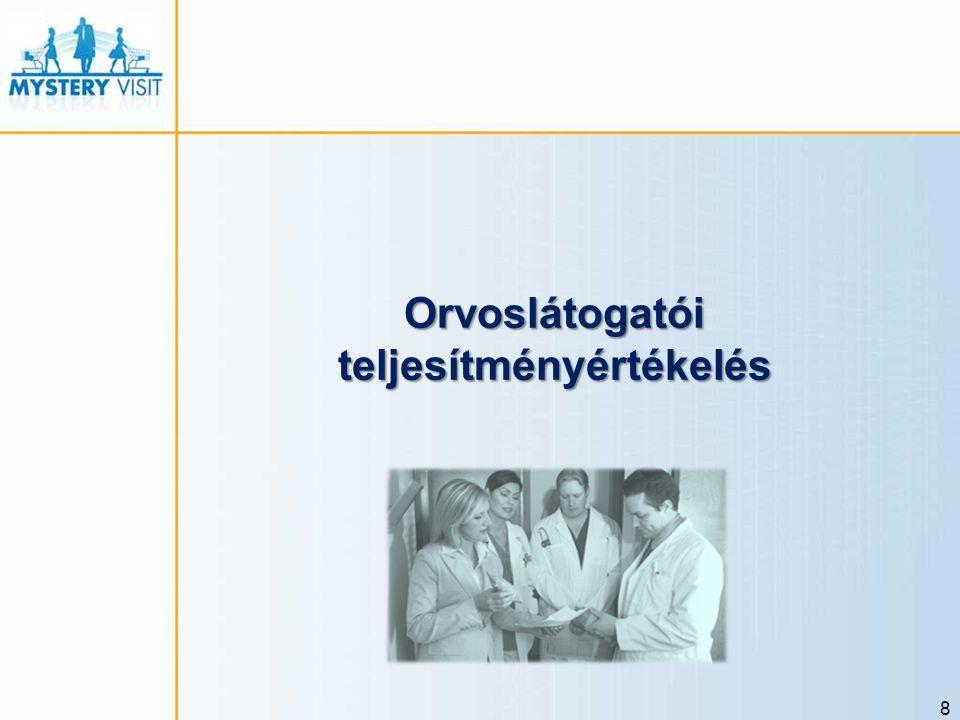 8 Orvoslátogatói teljesítményértékelés