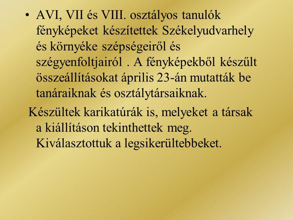 •AVI, VII és VIII.