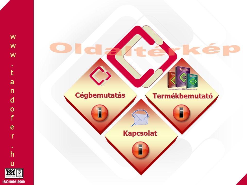 www.tandofer.huwww.tandofer.hu ISO 9001:2000 FŐOLDAL Szerviz és gyártási folyamatban: Tényleges alkalmazotti teljesítmény figyelése Munkalap, munkafázis kezelése Normaidő, holtidő kimutatás Humán erőforrás irányításában: Személyzeti ki- és beléptető rendszer Munkaidő figyelés, jelenléti ív Távolléti engedélyek, szabadságok Touchmonitoros megoldások VISSZA