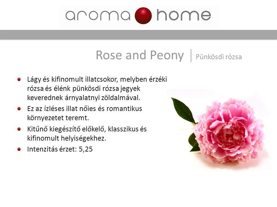 Lágy és kifinomult illatcsokor, melyben érzéki rózsa és élénk pünkösdi rózsa jegyek keverednek árnyalatnyi zöldalmával. Ez az ízléses illat nőies és r