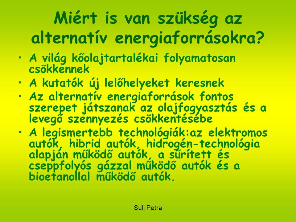 Süli Petra Miért is van szükség az alternatív energiaforrásokra.