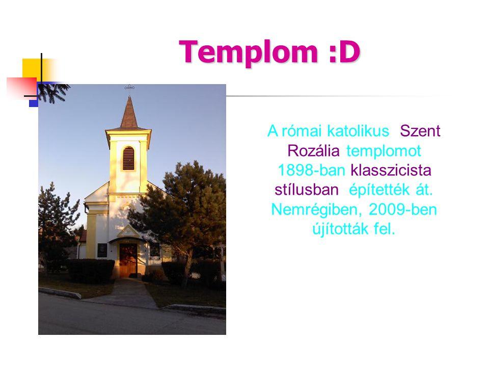 Templom :D A római katolikus Szent Rozália templomot 1898-ban klasszicista stílusban építették át. Nemrégiben, 2009-ben újították fel.