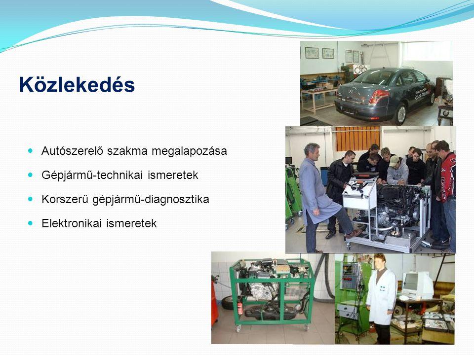 Közlekedés  Autószerelő szakma megalapozása  Gépjármű-technikai ismeretek  Korszerű gépjármű-diagnosztika  Elektronikai ismeretek