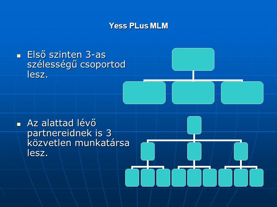 Yess PLus MLM  Első szinten 3-as szélességű csoportod lesz.