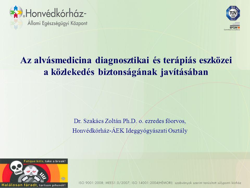 Az alvásmedicina diagnosztikai és terápiás eszközei a közlekedés biztonságának javításában Dr.