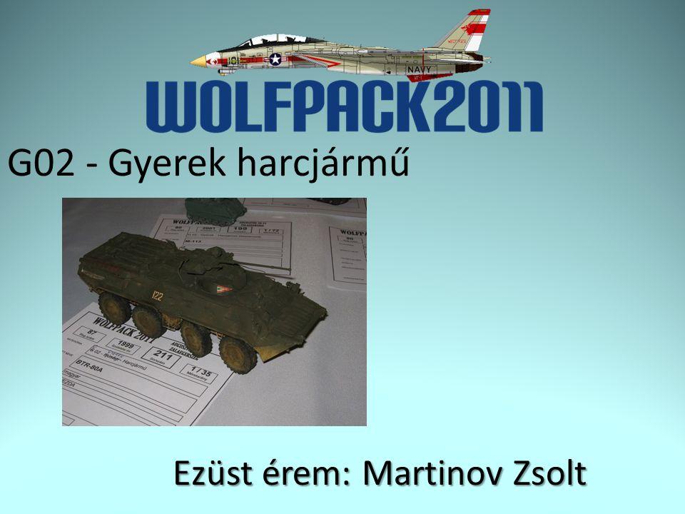 G02 - Gyerek harcjármű Ezüst érem: Martinov Zsolt