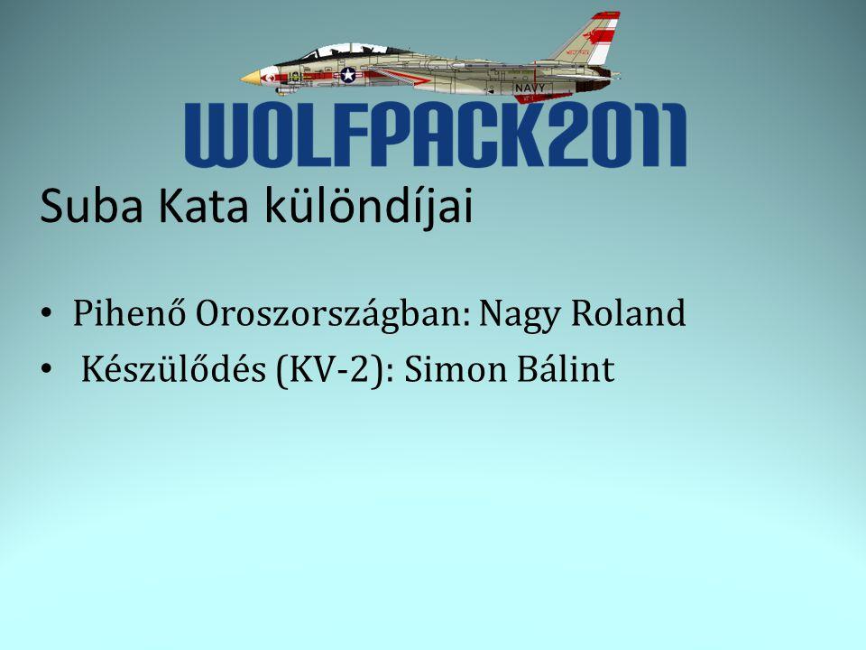 Suba Kata különdíjai • Pihenő Oroszországban: Nagy Roland • Készülődés (KV-2): Simon Bálint