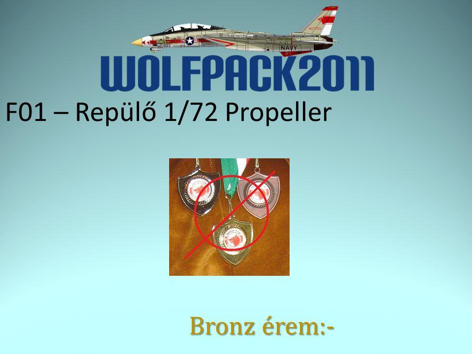 F01 – Repülő 1/72 Propeller Bronz érem:-