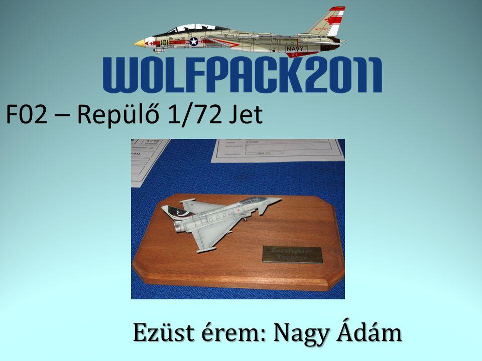 F02 – Repülő 1/72 Jet Ezüst érem: Nagy Ádám