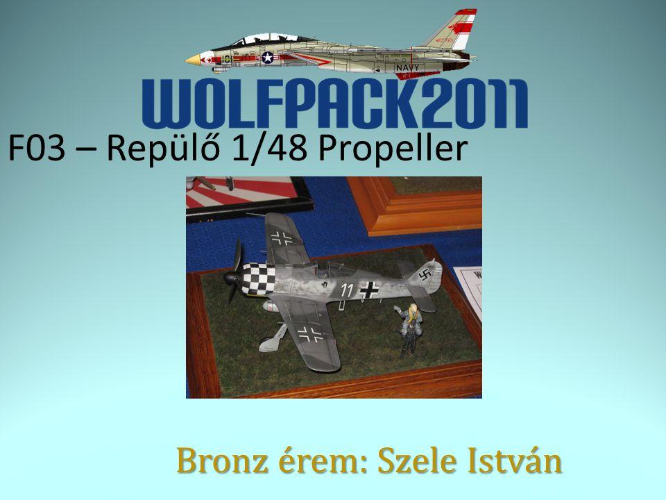 F03 – Repülő 1/48 Propeller Bronz érem: Szele István