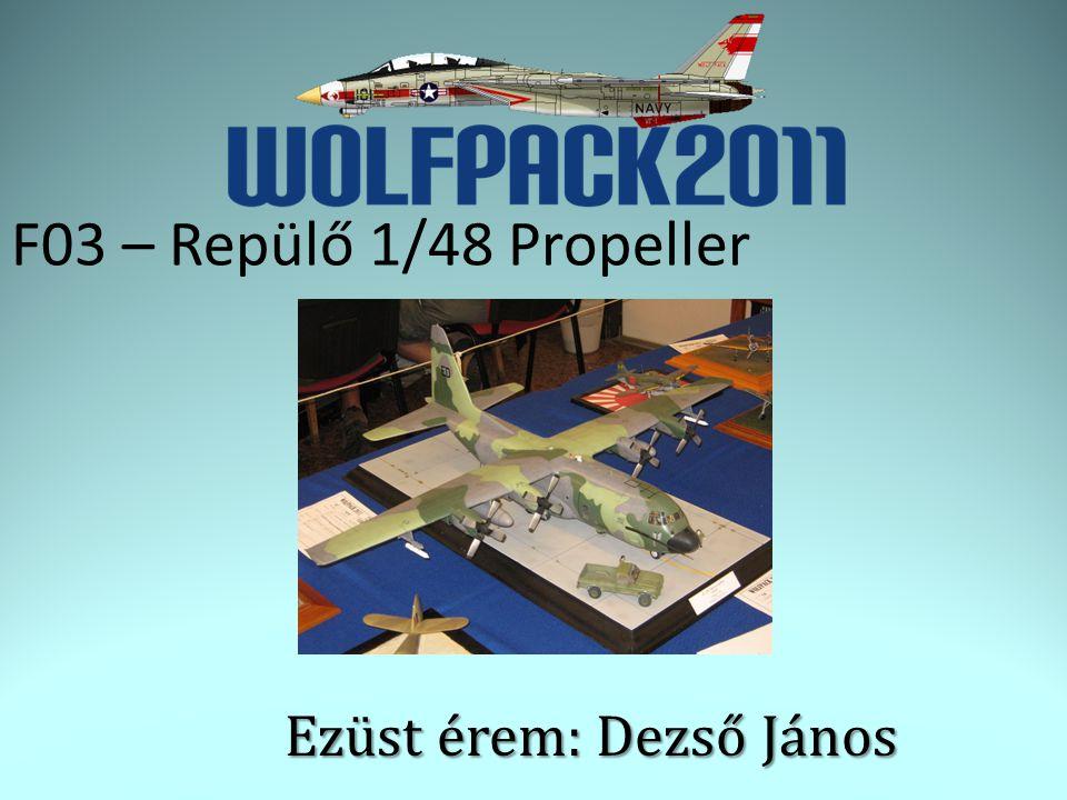 F03 – Repülő 1/48 Propeller Ezüst érem: Dezső János