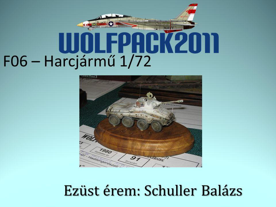 F06 – Harcjármű 1/72 Ezüst érem: Schuller Balázs