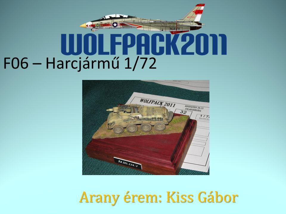 F06 – Harcjármű 1/72 Arany érem: Kiss Gábor