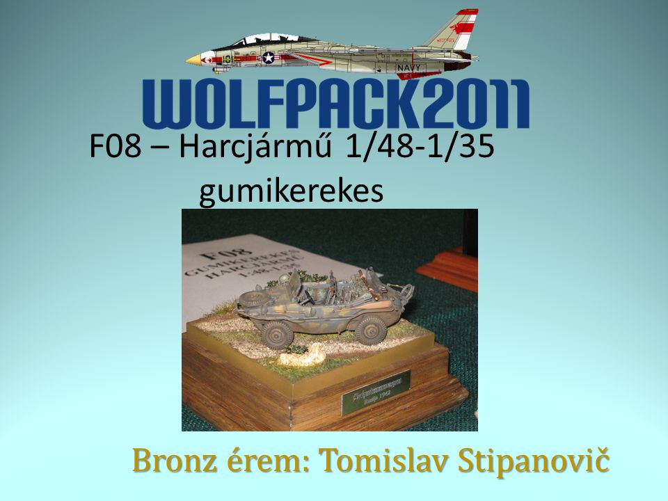 F08 – Harcjármű 1/48-1/35 gumikerekes Bronz érem: Tomislav Stipanovič
