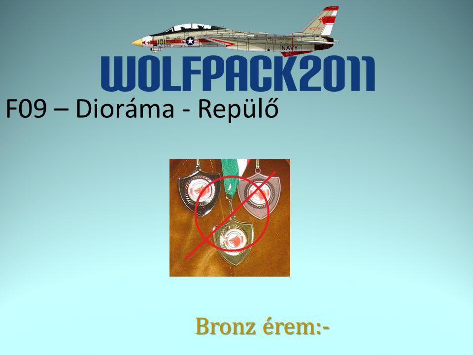 F09 – Dioráma - Repülő Bronz érem:-
