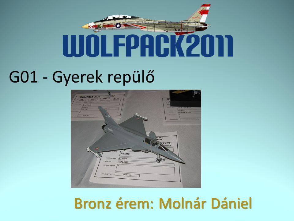 G01 - Gyerek repülő Bronz érem: Molnár Dániel